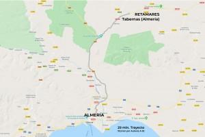 Mapa RUTA RETAMARES Tabernas 01 scaled - Andalucía Film Commission