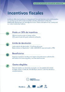 Incentivos fiscales - Andalucía Film Commission